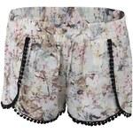 Krémové šortky s květinovým motivem Haily´s Cindy