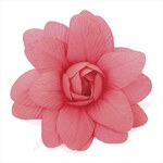 Klip do vlasů neonově růžový květ 7cm 26778