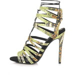 Topshop RUPA Snake-Effect Ghillie Sandals