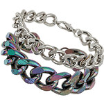 Topshop Iridescent Mixed Multi Chain Bracelet