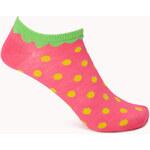 Forever 21 Cherry Striped Ankle Socks
