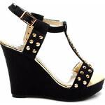 CNB Černé sandálky na platformě C3038N Velikost: 37
