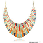 Damson Masivní egyptský náhrdelník zlaté barvy