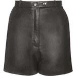 Topshop Mason Leather Shorts by Unique
