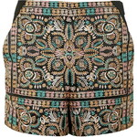 Topshop PETITE High-Waisted Embroided Shorts