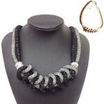 Lesara Sternenstaub-Halskette - Schwarz-Grau