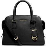 Černá kožená kabelka Michael Kors Harper medium