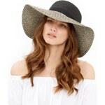 ELISE RYAN Stylový černošedý klobouk
