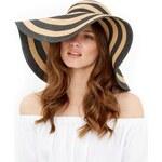 ELISE RYAN Slaměný klobouk s proužky