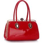 LS fashion LS KABELKA LS00356 S KOVOVÝM RÁMEM červená