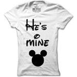 Dámské dámské tričko He's mine Mickey Mouse
