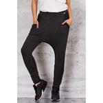 Tmavě šedé teplákové kalhoty M056 L/XL