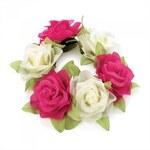 Růžová gumička do vlasů Flowers 29147