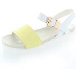 Žluto-bílé sandály Pradee EUR39