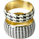 Promod Dogtooth patterned bangles
