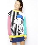 ASOS Sweatshirt with Skater Snoopy Stripes