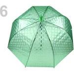 Dámský průhledný vystřelovací deštník (1 ks) - 6 zelená pastelová transparent Stoklasa