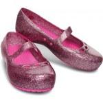 CROCS dětské balerínky Carlisa Glitter Flat Carnation/neon magenta