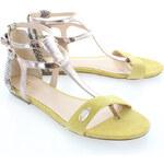 Žluté sandály Liu Jo Infradito Flat Eva EUR37
