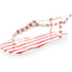 Červené sandály Clip EUR38