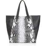 Topshop Snake Print Large Tote Bag