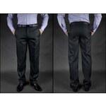 ADRIANO CASTELLANI Kalhoty pánské oblekové černé pro výšku 182 cm