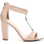 BELLE WOMEN Suprovní béžové dámské sandále, vel. 36