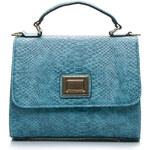 SCHILO-JOLIE Stylová modrá klasická kabelka, vel. univerzální