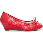 ANESIA PARIS Jemné červené dámské krásné lodičky, vel. 37