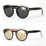 Lesara Damen-Sonnenbrille mit Steg - Schwarz-Pink