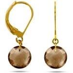 Tous mes bijoux Boucles d'oreilles en or avec quartz fumés - marron