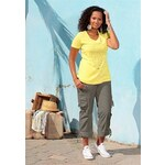 sheego Dámské cargo kalhoty, sheego khaki - K+L-velikosti 22