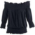 VENICE BEACH Dámské tričko ve stylu Carmen černá 32/34