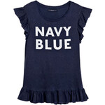 "Venca Originální volánové tričko ""Navy blue"" modrá"