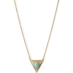 Forever 21 Antiqued Faux Turquoise Necklace