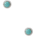 Forever 21 Earthy Faux Turquoise Studs