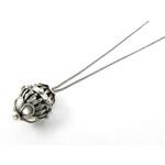 Sweetlime Náhrdelník Flower Basket Silver