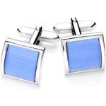 Luxusní manžetové knoflíčky Vincenzo Boretti - modrý čtverec