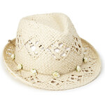 Forever 21 Fantasy Floral Straw Fedora