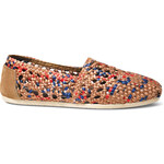 Toms Tan Blue Crochet Alpargatas 5,5/36