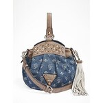 Guess Kabelka Wild At Heart Denim Bucket Bag