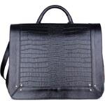 Gino Rossi - Kožená kabelka - černá