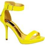 Blink - Sandály na jehlovém podpatku - žluto-zelená