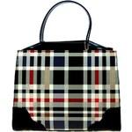 Luxusní černá lakovaná kabelka do ruky F488A Tom&Eva