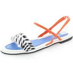 Oranžovo-bílé sandály Ivaro EUR39