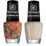 Dermacol Nail Polish With Effect 5ml Lak na nehty W - Odstín 08 Lilac Pixel