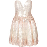 Topshop **Limited Edition Pink and Gold Sequin Sweetheart Prom Dress by Rare