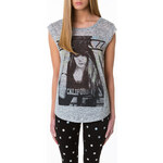 "Tally Weijl Grey ""One Week"" Print Top"