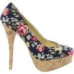 Sugarfree Shoes Sugarfree Flowery Heeled Shoe