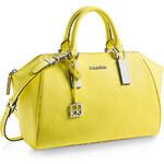 Žlutá kožená kabelka Calvin Klein Scarlett dome